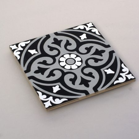 אריחים שחור לבן 10 ענבל אריחים מצוירים