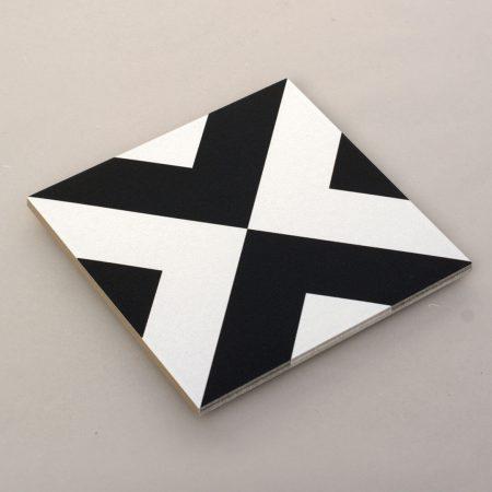 ענבל אריחים מצוירים אריחים שחור לבן-5
