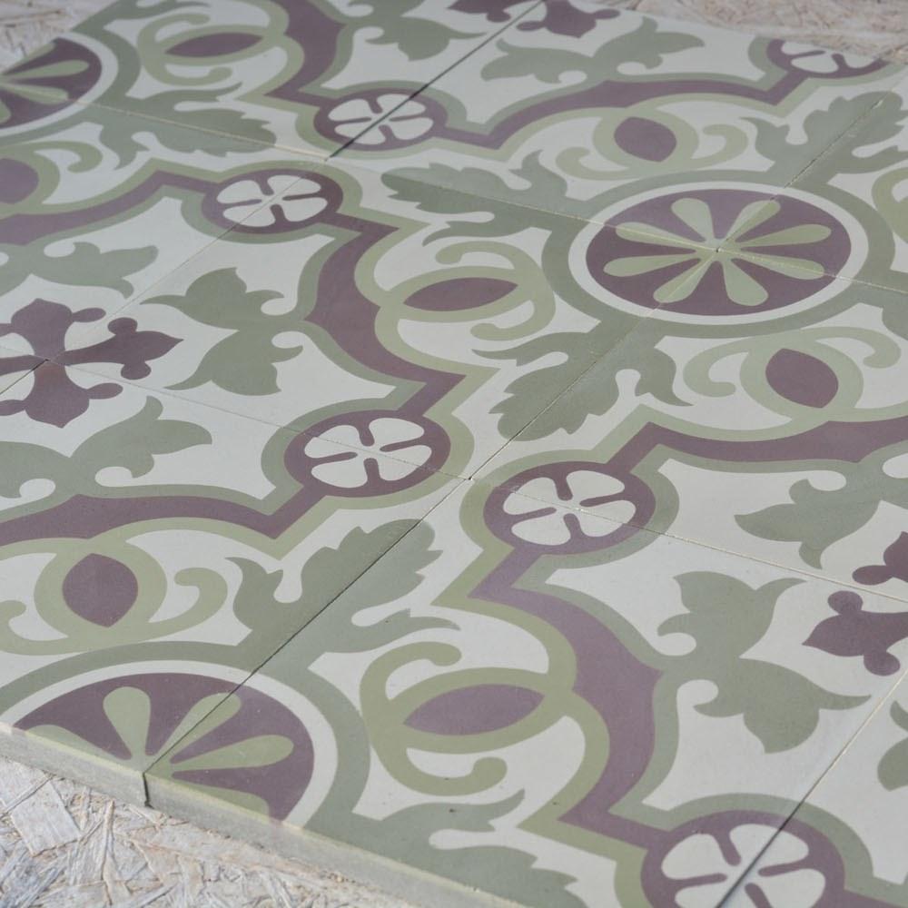 אריחי בטון 25 ענבל אריחים מצוירים