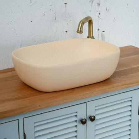 כיור אמבטיה מונח קרם מט