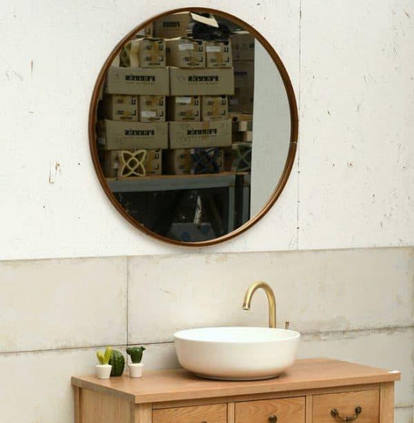 מראות אמבטיה - ברונזה קוטר 80