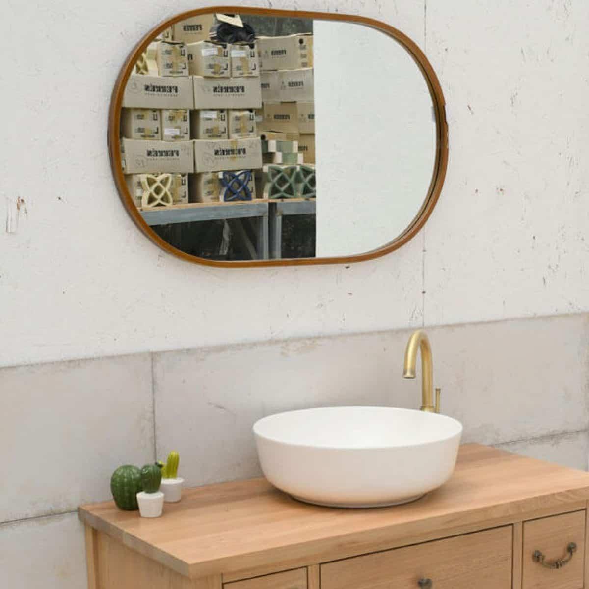 מראות אמבטיה ברונזה אובאלי