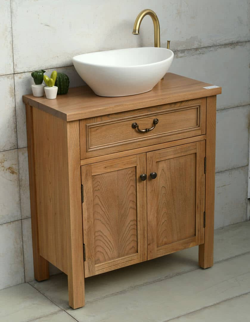 ארון אמבטיה עץ טבעי