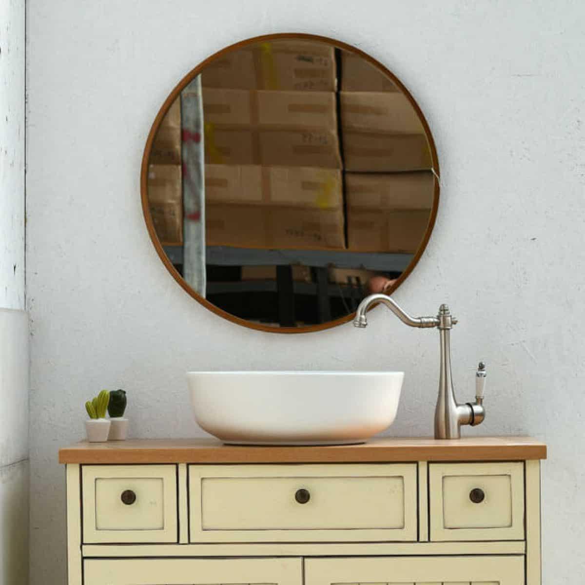 מראות אמבטיה - קוטר 60 ברונזה