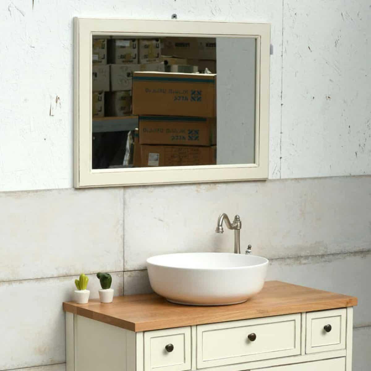 מראות אמבטיה פרובנס מעץ