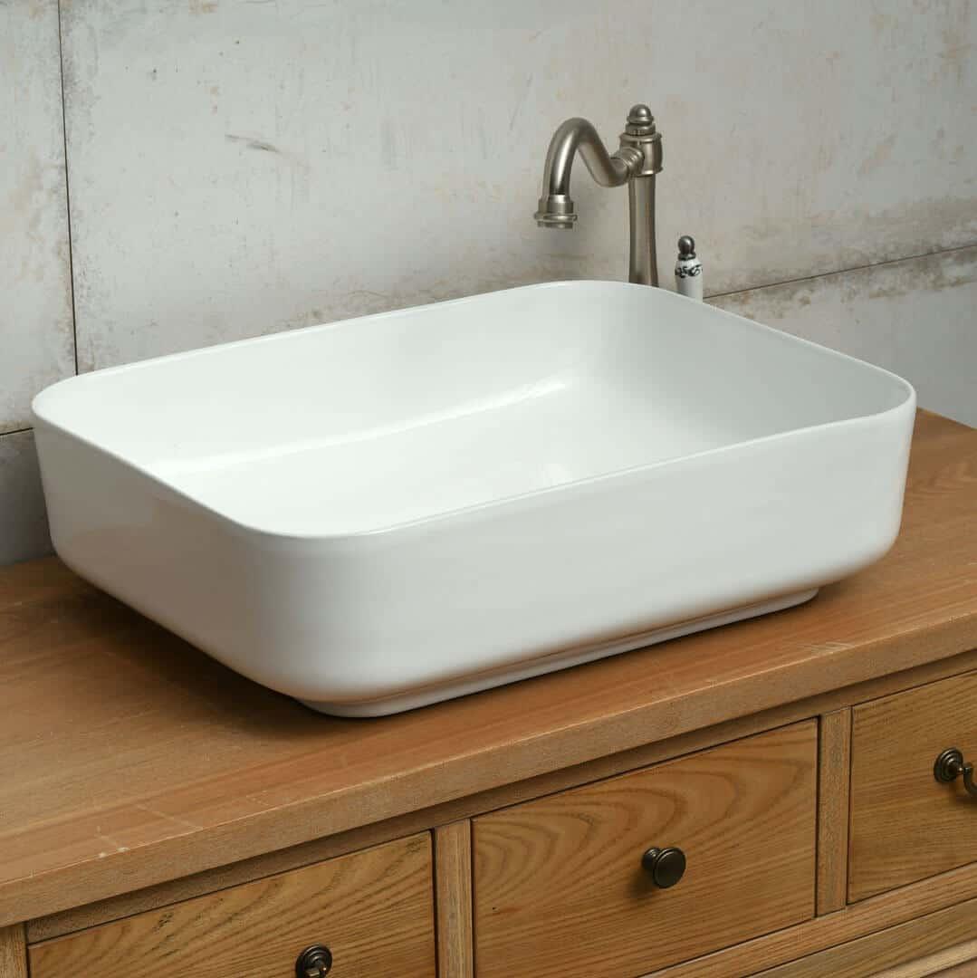 כיור אמבטיה מלבני