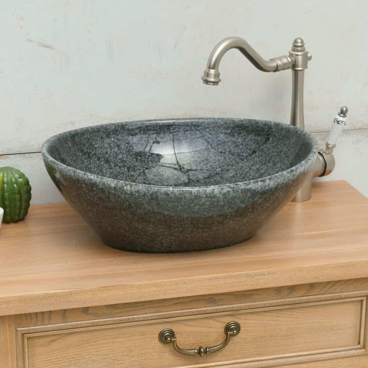 כיור אמבטיה מונח אובאלי שחור