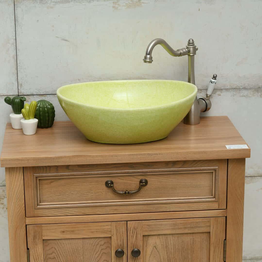 כיור אמבטיה אובאלי ירוק