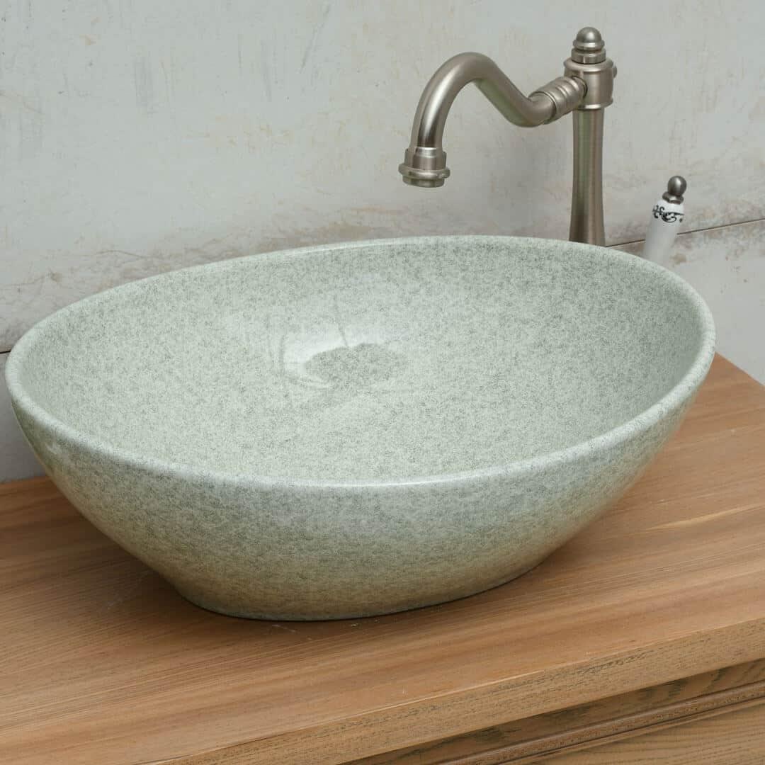 כיור אמבטיה אובאלי ירקו אפור
