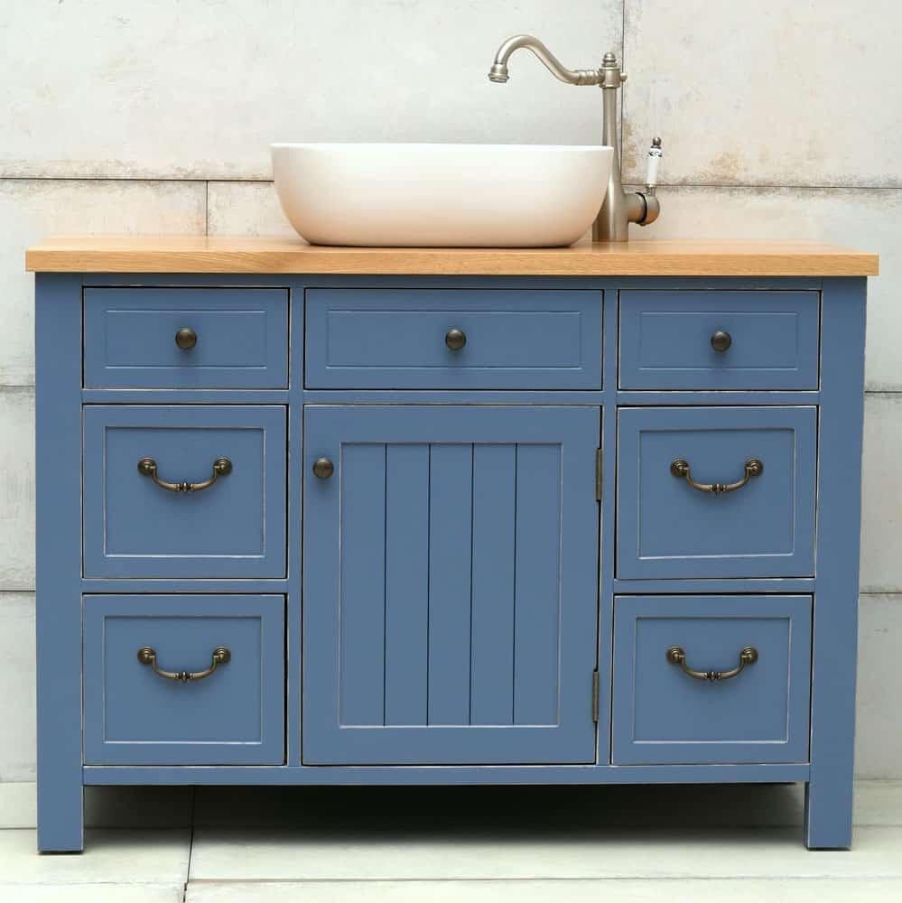 ארון אמבטיה סגנון כפרי רוחב 110