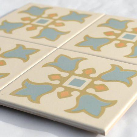 אריחים מצוירים סדרת רקפת למטבח