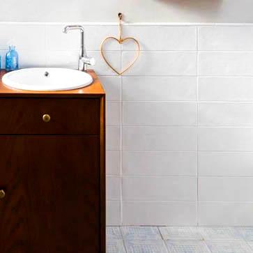 קרמיקה לאמבטיה 10/40 לבן מט למקלחת