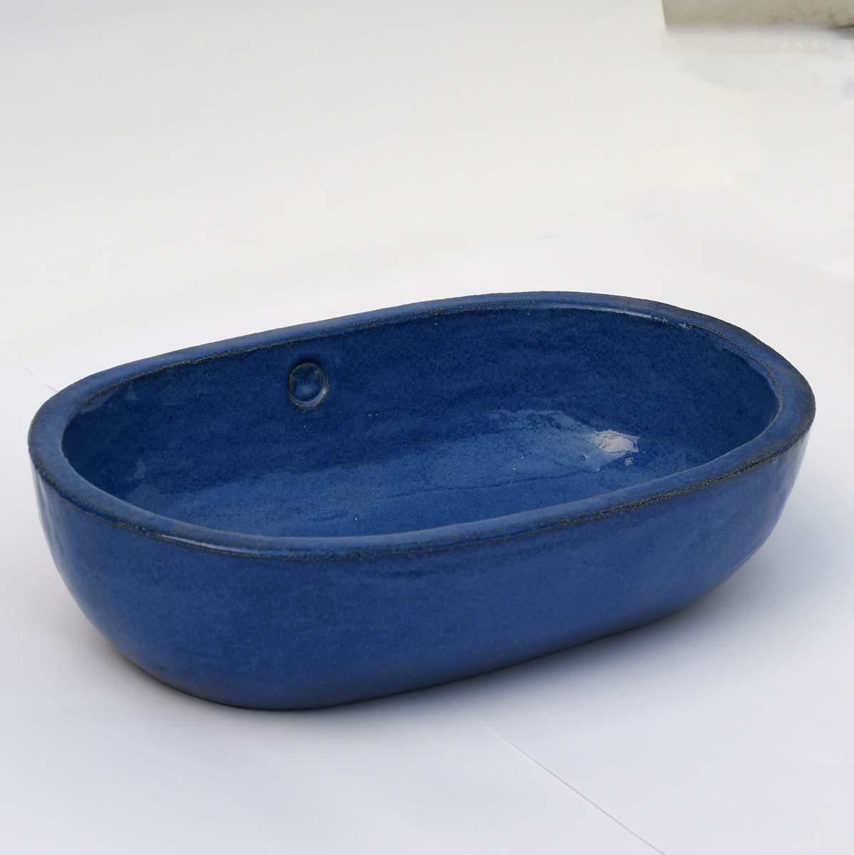 כיור אמבטיה קטן אובאלי בצבע כחול