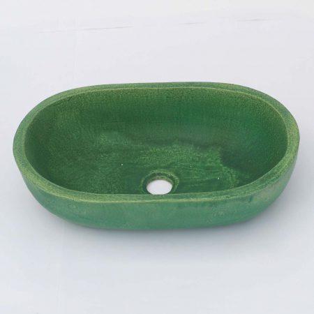 כיור אמבטיה קטן אובאליבצבע ירוק