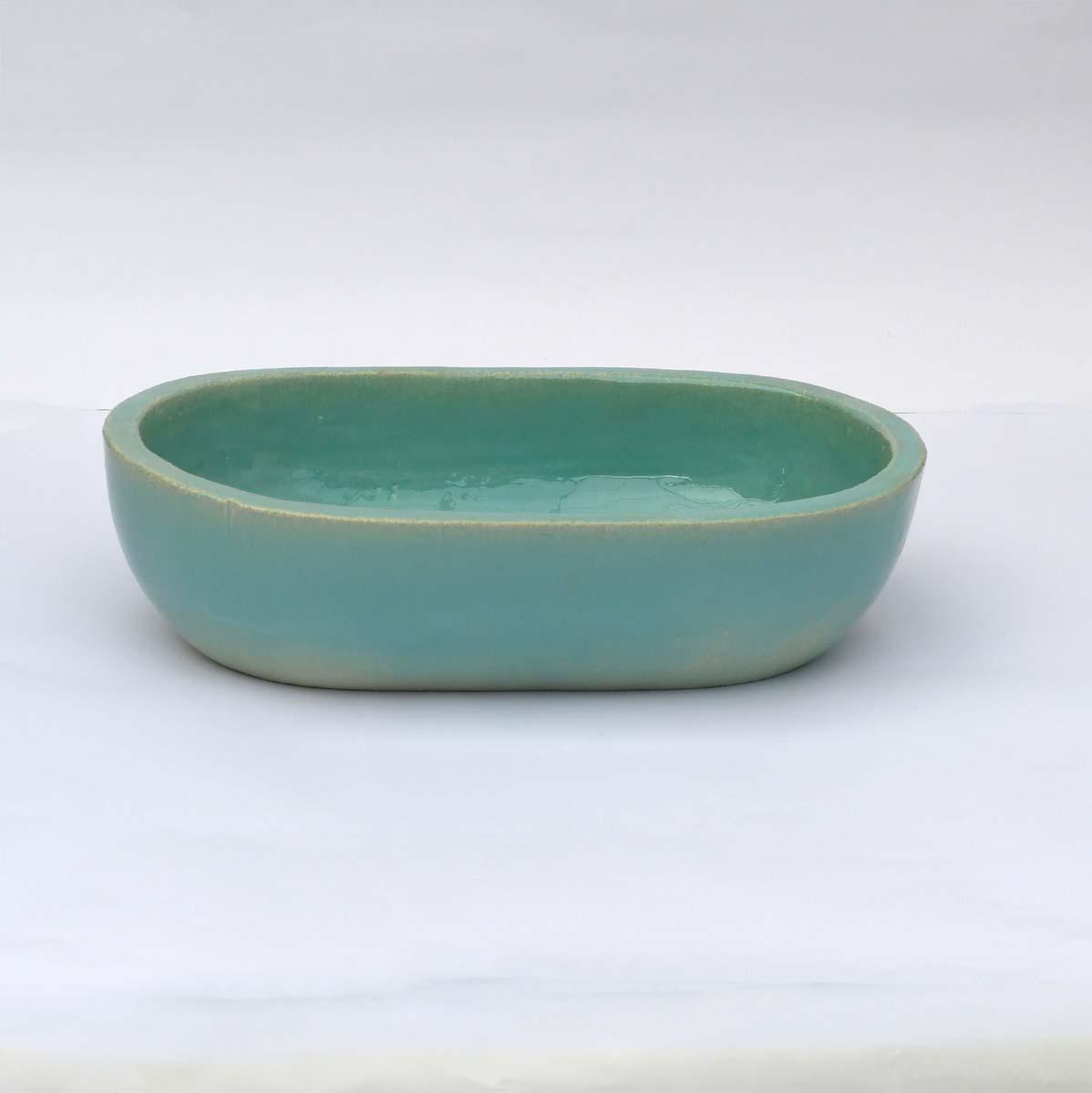כיור אמבטיה קטן אובאל בצבע אקווה