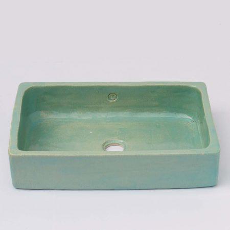 כיור אמבטיה צבע אקווה