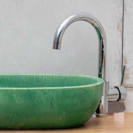 ברז אמבטיה - ברבור יהלום ניקל
