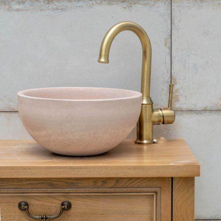 ברז אמבטיה מעוגל ברונזה