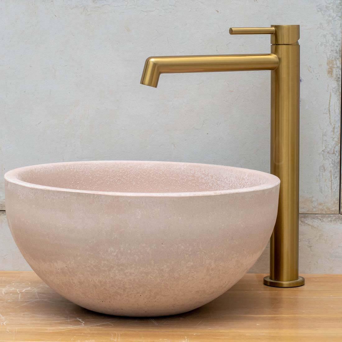 ברז אמבטיה - בונטון גבוה עגול גולד מט