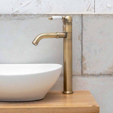 ברז אמבטיה לכיור מונח ברונזה