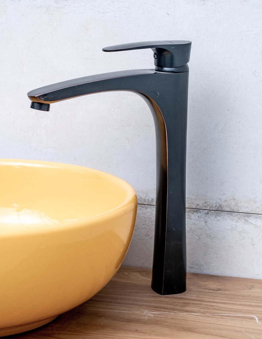 ברז אמבטיה - ברז נועם שחור גבוה